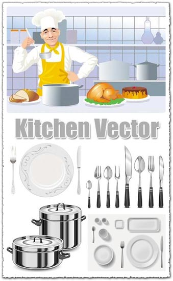 Kitchen vector icons design for Kitchen design vector