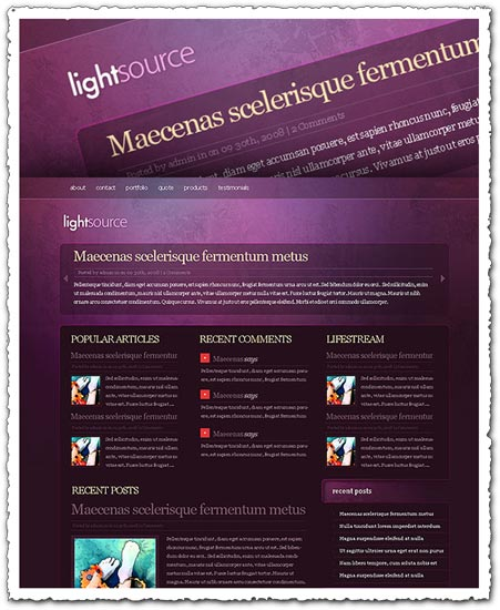 LightSource elegantthemes WordPress theme
