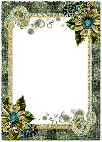 magic flowers photoshop frames