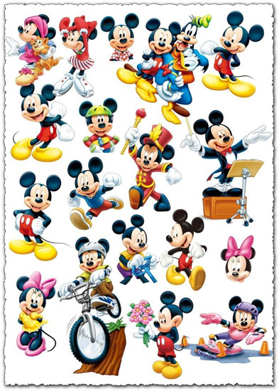 Mickey Mouse photoshop format