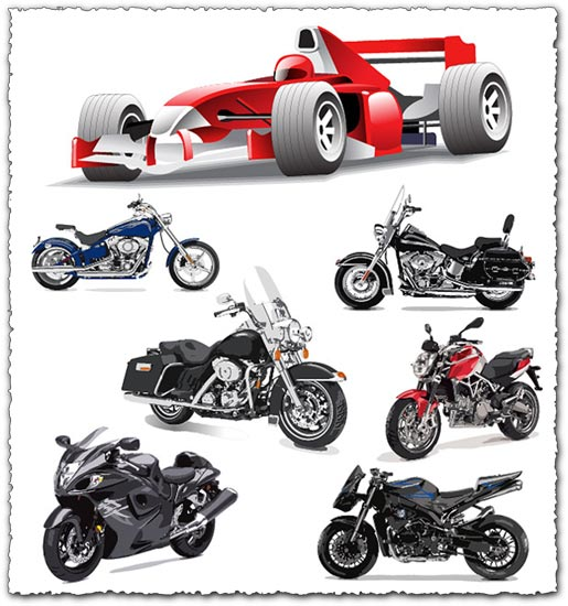 Moto and Formula 1 vectors