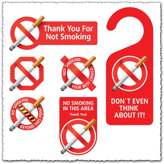 No smoking vector labels