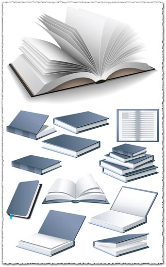 Open book vector design