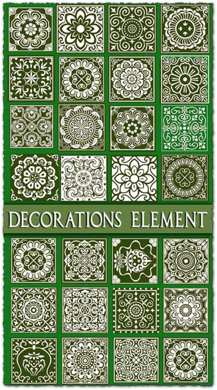 Oriental decorations vector elements