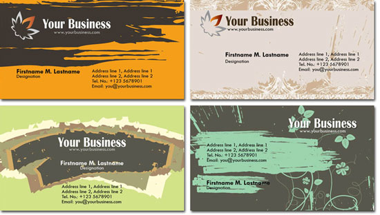 Photoshop business cards templates colourmoves