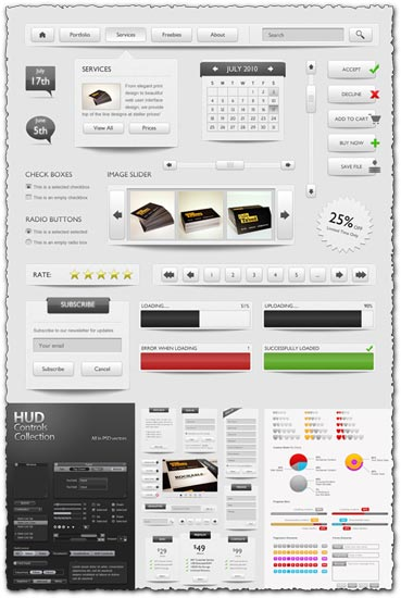 75 Photoshop web 2.0 elements