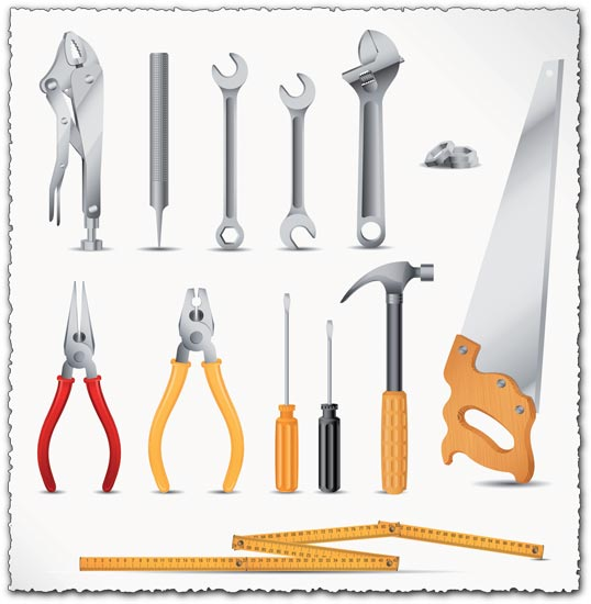 Repairing tools vector icons