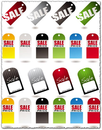 Tag sales labels vectors