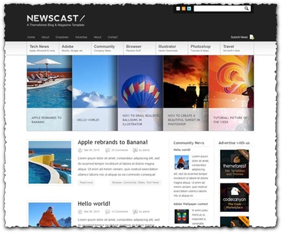 ThemeForest wordpress magazine and blog
