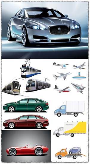 Transportation vectors collection
