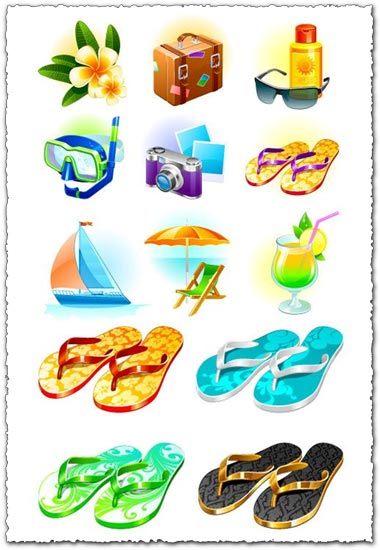 Travel icons vectors