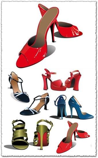 Woman shoes vector design