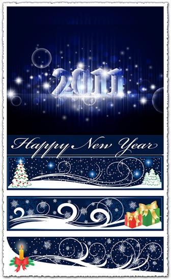 2011 New Years banner vectors