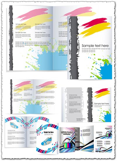 3  promotional flyers vector design