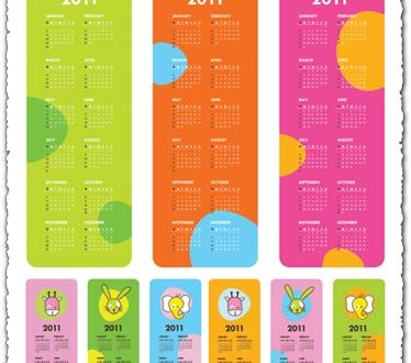 Childrens calendar for 2011 vector