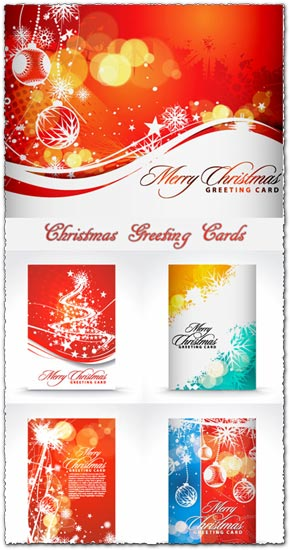 Christmas greetings vector card models m4hsunfo