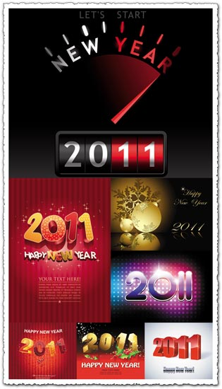 New year 2011 vector designs
