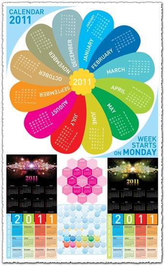 2011 calendars vector