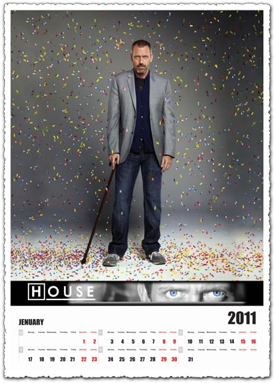 Dr House calendar 2011