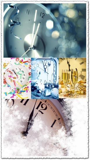 New year clocks photo collection