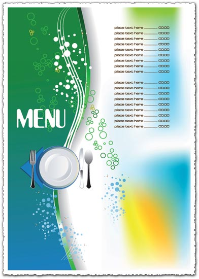 Restaurant menu vector template