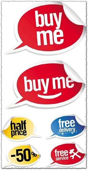 Sale stickers vector design