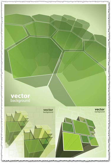Green boxes vector design