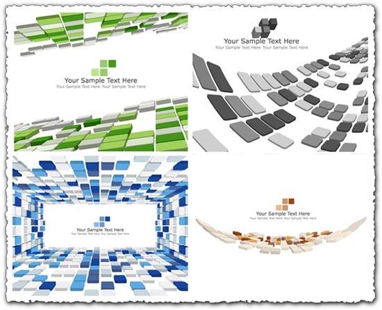 3D mosaic color banners