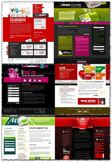 41 web design templates and code