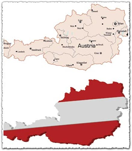 Austrian vector map