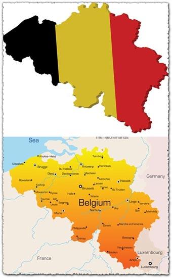 Belgium vector maps