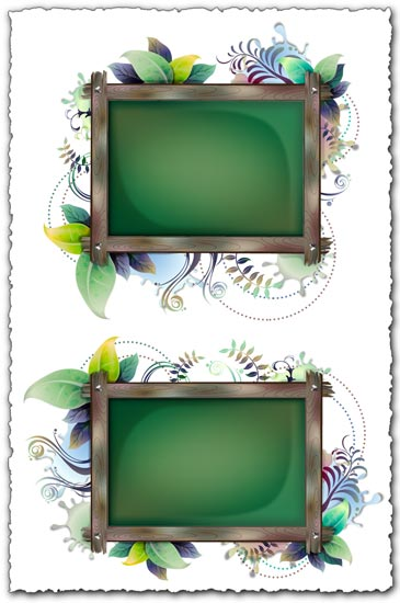 Billboard with floral frames design