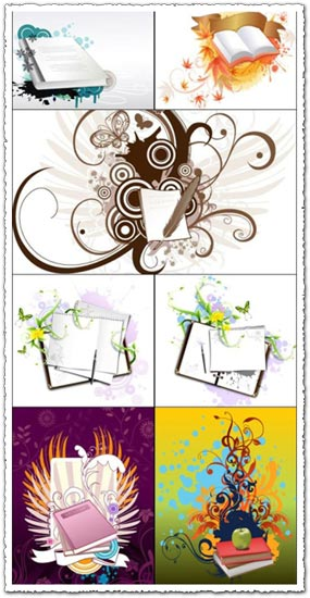 Books vector design