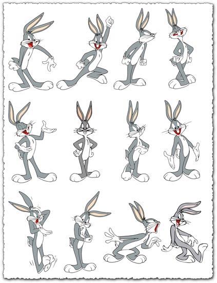 Bugs Bunny vector cliparts