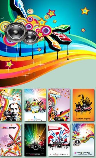 Disco music flyers