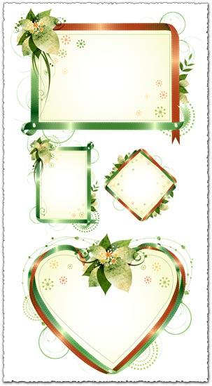 Floral frames vectors