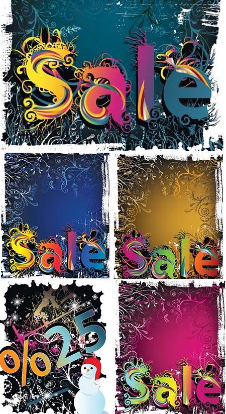 Grunge discount sales in vector format