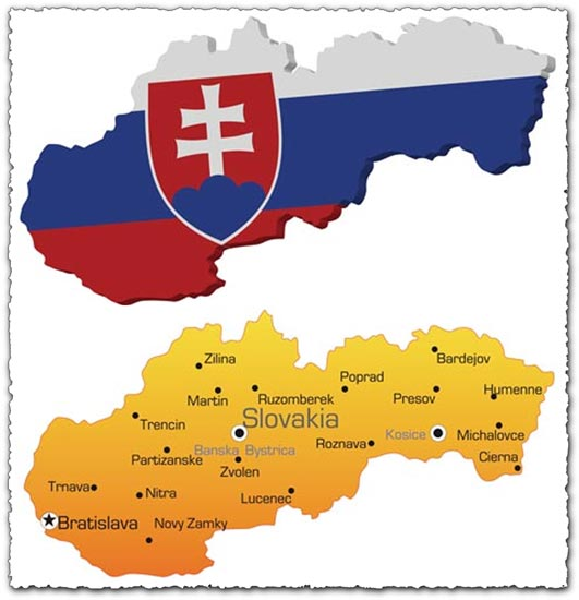 Slovakia Map Vector Slovakia Vector Map