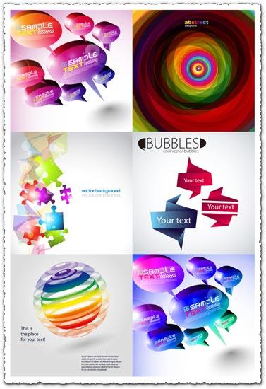 Speech bubbles vector templates