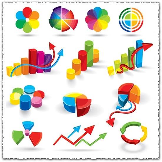 Statistics and charts vectors