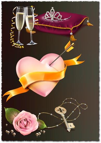 Transparent romantic icons
