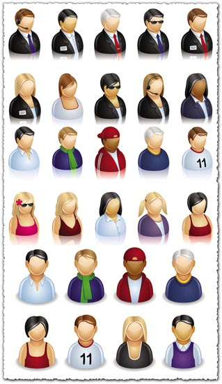 People icons in vector format