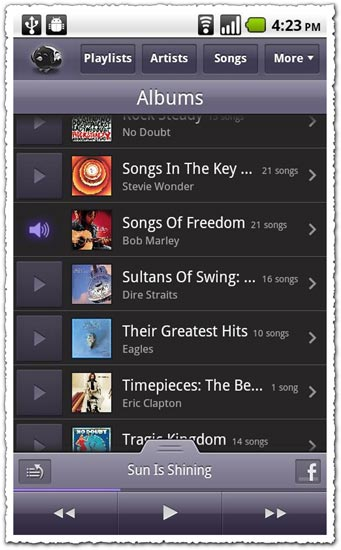 Songbird 1.0 Android application