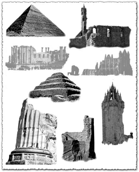 Ancient ruins Photoshop brushes
