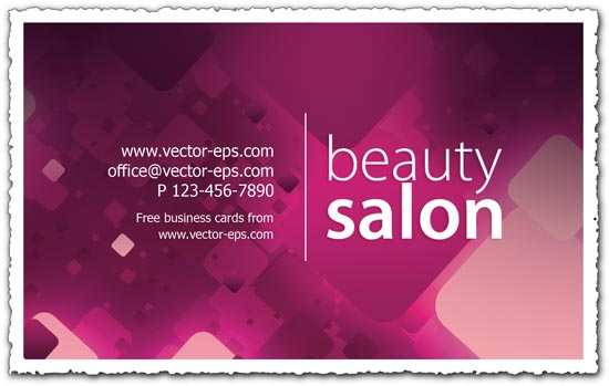 Beauty salon business card colourmoves