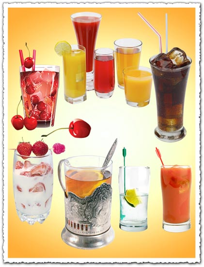 Cocktail drinks vector templates