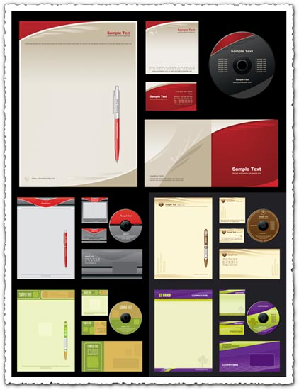 Corporate identity vectors collection