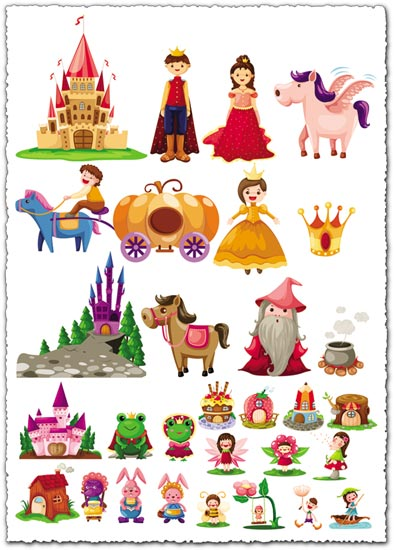 Fairy tale cartoon characters