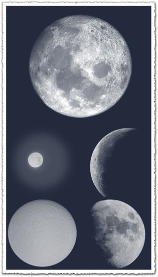Shining moon Photoshop brushes