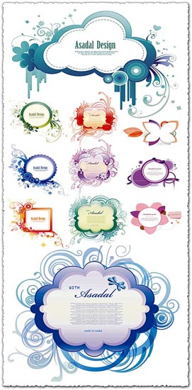 Spring labels vector design
